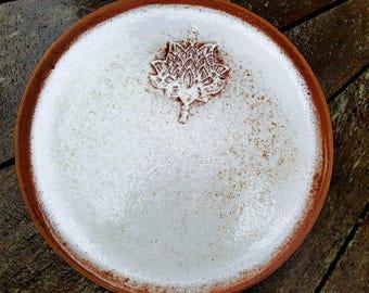 Brown stoneware plate