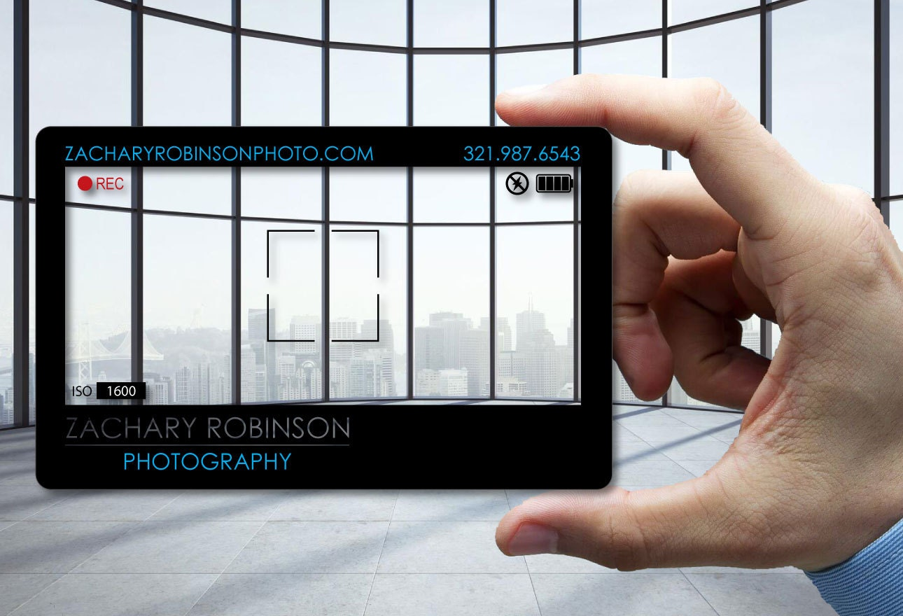 Clear Plastic Business Cards for Photographer 30 mil thick