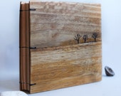 Blank journal Diary Trees Upcycled wood Small notebook