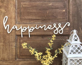 Happiness Word Cutout | Wooden letters | Happiness Sign
