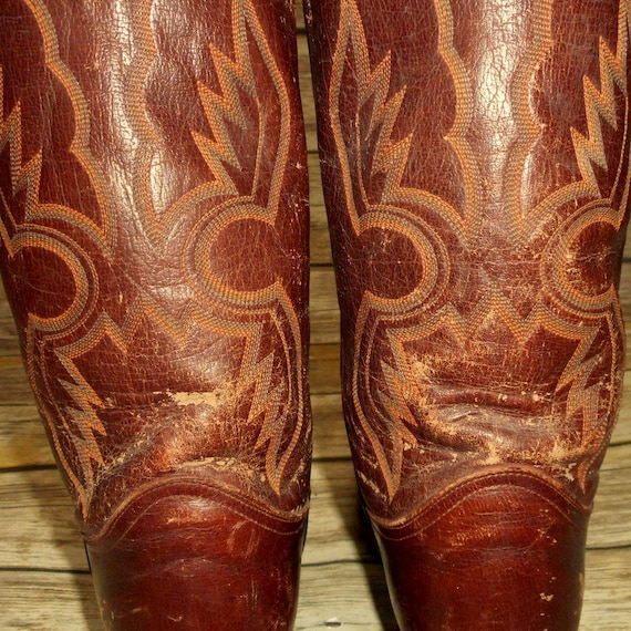 8 Western Brown Size Boots Leather Distressed Lama Country D Mens Tony Cowboy Z0gnwfpqxP
