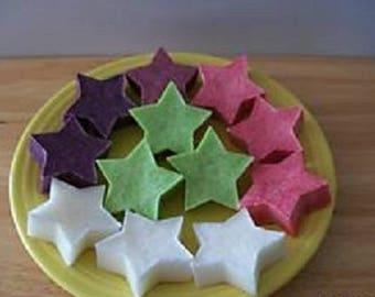 FREE SHIPPING Lot of 12 (1 Dozen) Palm Wax Tarts (STARS).  1.6 Ounces each.