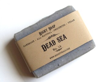 Dead Sea Soap Detox Soaps Vegan All Natural Soap Mens Gift For Him Homemade Soap Unscented Handmade Soap