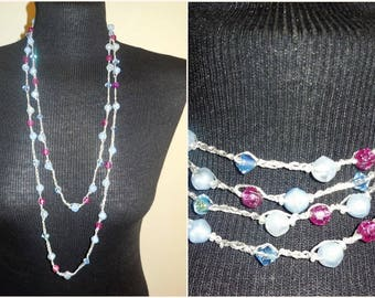 Necklace Single Long Strand Beaded Vintage Retro Costume Jewelry Fashion Accessories Classic