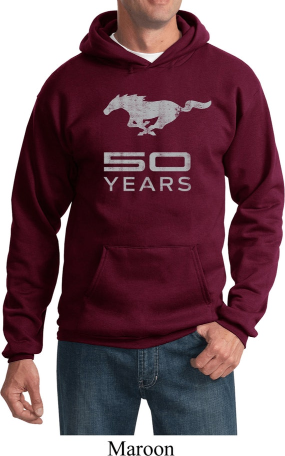 Men's Ford Hoodie Red Stripe Mustang 50 Years Hoody 19240E1-PC90H hdDxaWcK