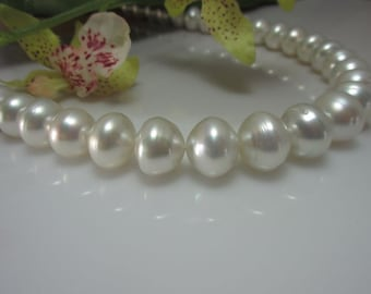 South Sea Pearl Beads White 12-14.5 mm bouttonförmige beads No. 11