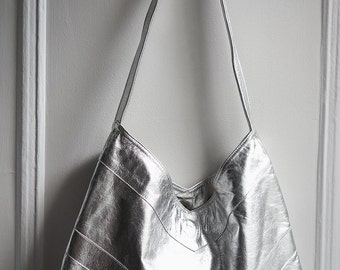 Olivia leather Hobo chevron bag