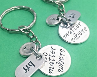 Best Friend Keychain, BFF keychain, bff set of two, bff charm, best friends, bff, best friends forever, 2 best friend keychains, bff gift