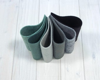 Felt Bundle - Stormy Weather - Wool Blend Felt Sheets, 9 x 12 inches