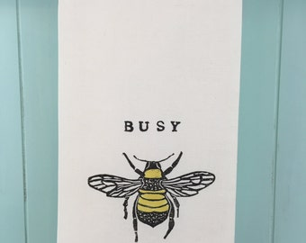 Block Printed Busy Bee