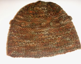 Tolkien Middle Earth Fall Tones Hobbit Hand Knit Winter Hat or Cloche