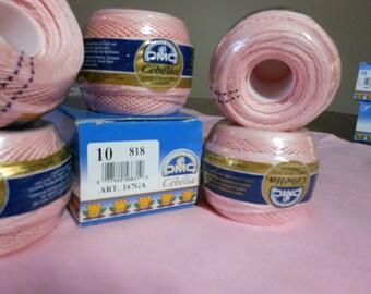 DMC Cebelia light pink crochet thread size 10