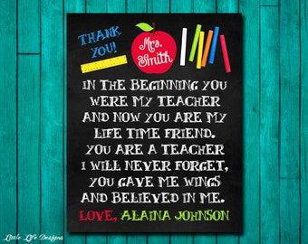 Gift for Teacher. Teacher Appreciation Gift. Personalized Teacher Gift. Customized Gift for Teacher. Teacher End of year Gift. Teacher Gifts