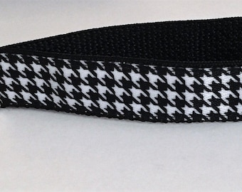 Houndstooth Black and White Key Wristlet Key Fob Key Chain Key Holder