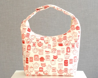Insulated Lunch Bag, Bento Lunch Bag, Girls insulated Lunch Bag, Lunch Bag Insulated, Women Lunch Bag, English Tea Kettle Collection