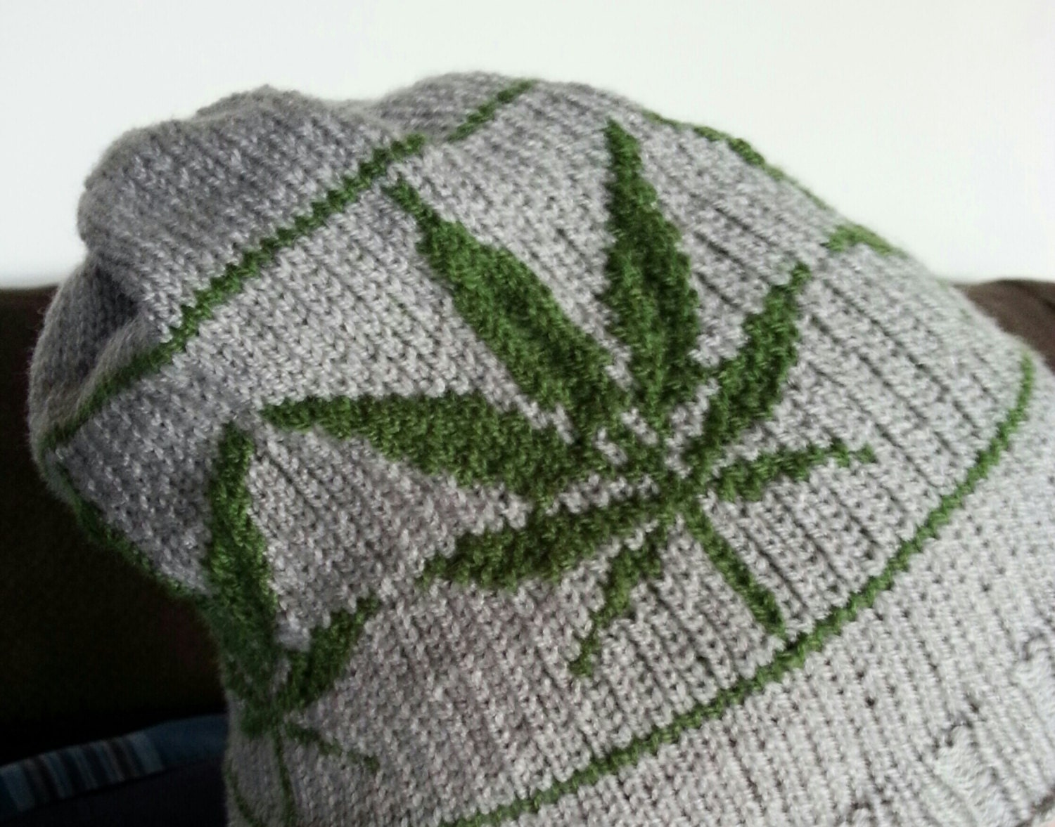 Knitting Pattern: Marijuana Leaf Hat Adult Size