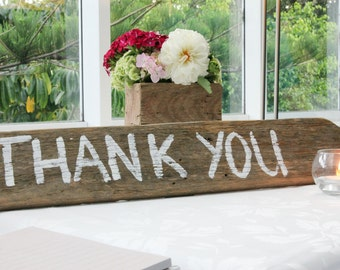 Rustic Handmade Thank You sign
