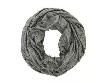 MINI INFINITY SCARF - Black Seaspray on Dark Gray
