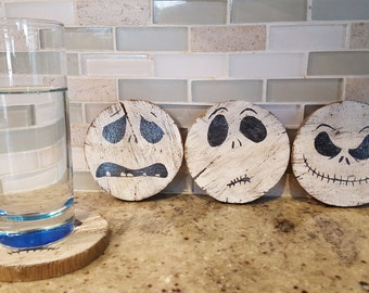 Nightmare Before Christmas Jack skellington Faces coasters
