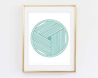 Green Geometric Circle