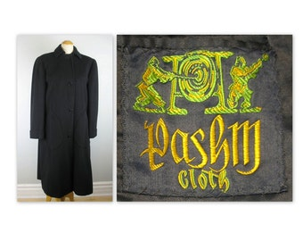 Vintage 50s Pashma Coat L by Chester Barrie for Holt Renfrew, Pashmina Winter Overcoat