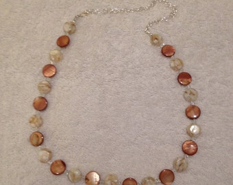 Beige and Light Brown Necklace