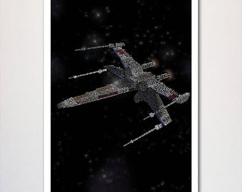 Star Wars X-Wing Typography Quotes Poster