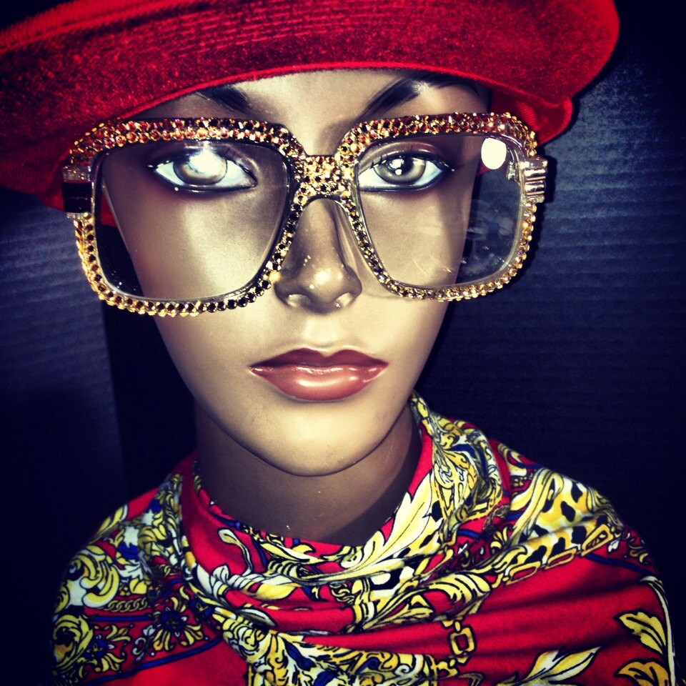 Estilo de Cazal gafas personalizadas con elementos de