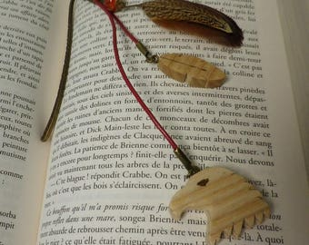 Eagle and feather bookmarks made of wood
