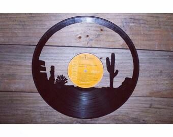 SALE Desert Record Cutout