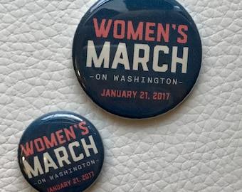 Women's March on Washington button