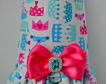 Dog Harness Vest, Princess Crown, Puppy Clothes, Dog Dress, Small Dog Harness, Large Dog Harness, Yorkie, Chihuahua, Dog Birthday, Gifts