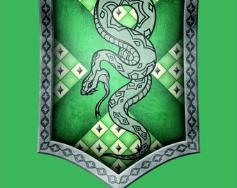 Harry Potter Flag   Slytherin Portrait   3x5 ft / 90x150 cm