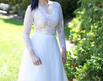 Bridal Lace Topper, Bridal Lace Bolero, bridal bolero, wedding bolero, Chantilly lace topper, Chantilly lace bolero. #B08