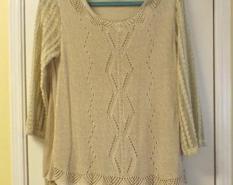 Soft Bohemian Top Lace Layered Romantic Women's Sweater