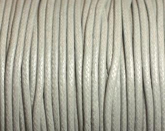5 Metters - 2mm grey waxed cotton cord - 4558550004239