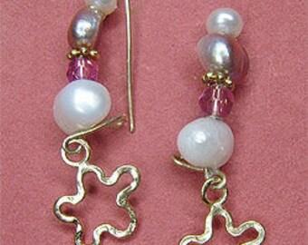 Israeli Earring.Gold Israeli Earrings.Israeli Earrings Handmade.Israeli Designer Earrings.Israeli Jewelry.Jewish Wedding. FREE SHIPPING!