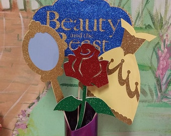 Beauty & the Beast Centerpieces/Photo Props-Princess Belle Party!