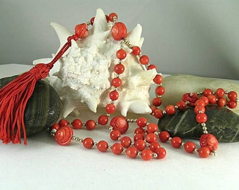 Coral Rose Paternosters on a 15th c. Coral Rosary - Psalter