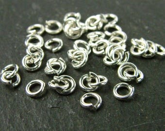 Sterling Silver Open Jump Ring 3mm ~ 22ga ~ Pack of 20