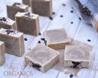 Organic Coffee Scrub Soap (handmade soap, handcrafted soap, natural soap, made in Edmonton Canada)