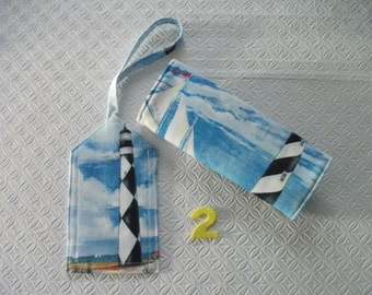New Price - Lighthouse Luggage Tag and Handle Wrap