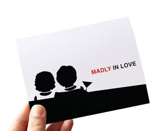 lesbian wedding card // lesbian engagement card // wedding greeting card // madly in love // lesbian greeting card // lesbian love card