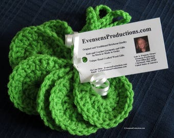 Luggage Identifier Tags - Set of Six Bright Green Suitcase Identifiers Airline Cruise Bon Voyage Retirement - Hand Made in USA Item 4999