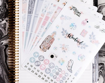 Be Kind Weekly Planner Sticker Kit, Planner Stickers, Weekly Kit, Planner Weekly Kit, Stickers Vertical Erin Condren (7Sheets/200+ Stickers)