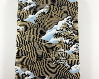 Waves of Gold||Hand-Bound Hard Cover Journal