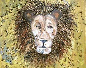 Lion Bullet Painting