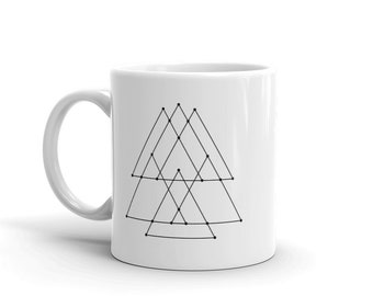 Geometry Triangle Mountains Coffee Tea Mug