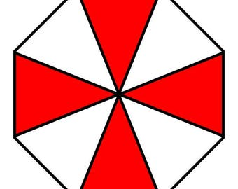 Umbrella Corporation inspired Static Cling Logo Decal