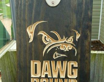 Browns Dawg Dog Pound Bottle Opener, Man cave beer sign, beer sign, beer opener, Cleveland Browns, Bottle opener